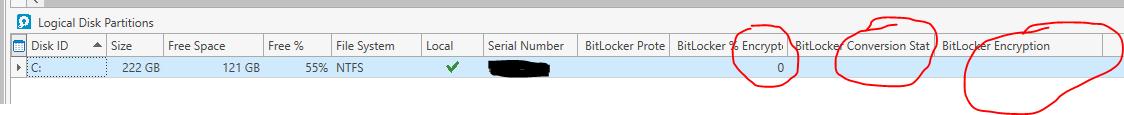 PDQ Inventory Bitlocker Status Fields
