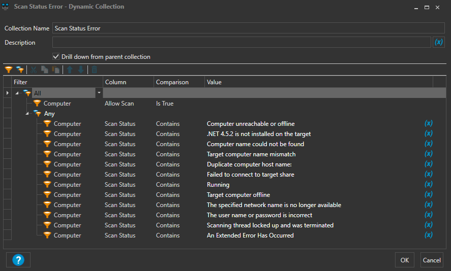 Dynamic collection for scan errors? - PDQ com