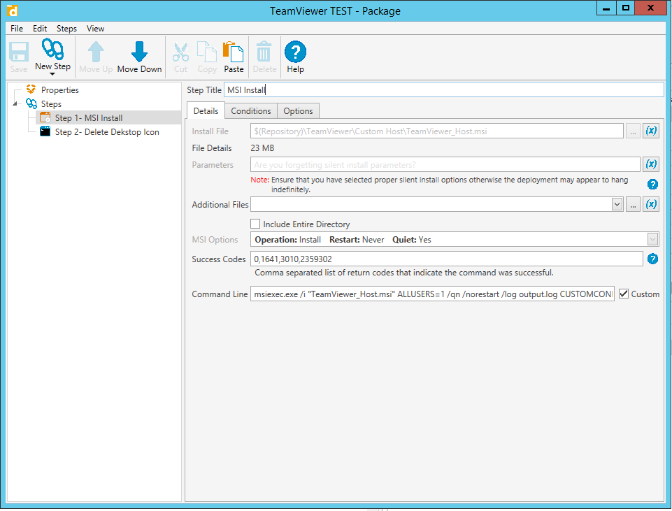 Teamviewer 14 Custom Host with Assignment - PDQ com